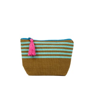 Image of Small Tassel Bag Olive/Turquoise