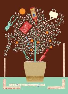 Image of Self-nurturing plant greetings card
