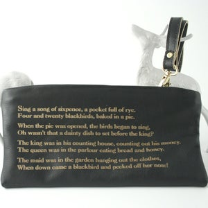 Image of 'Sing A Song of Sixpence' Rhyme Wriststrap purse/bag