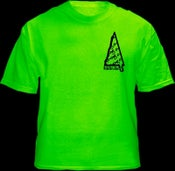 Image of Death Drop Triangle Logo Green Shirt