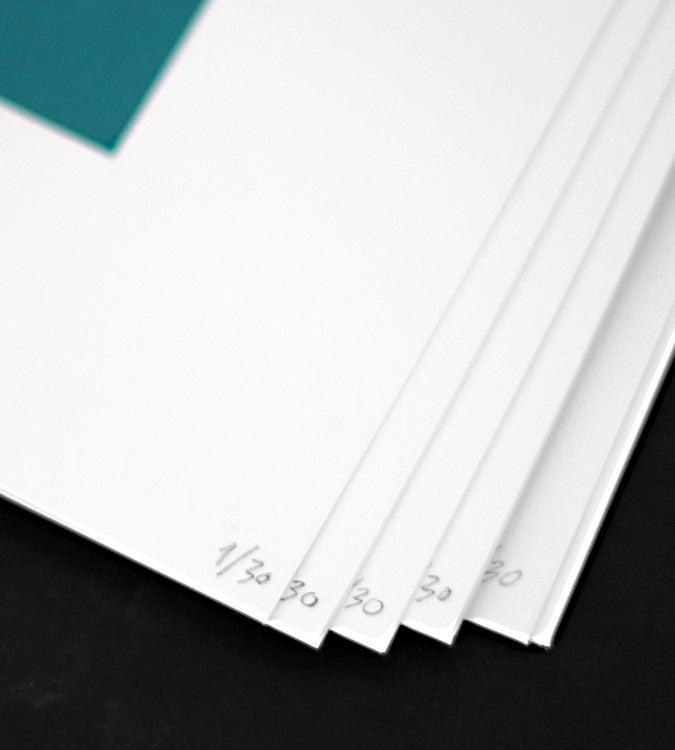 Image of Green Square Silkscreen Print