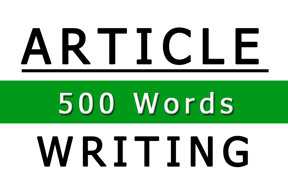 Image of 500 Word Article Writing