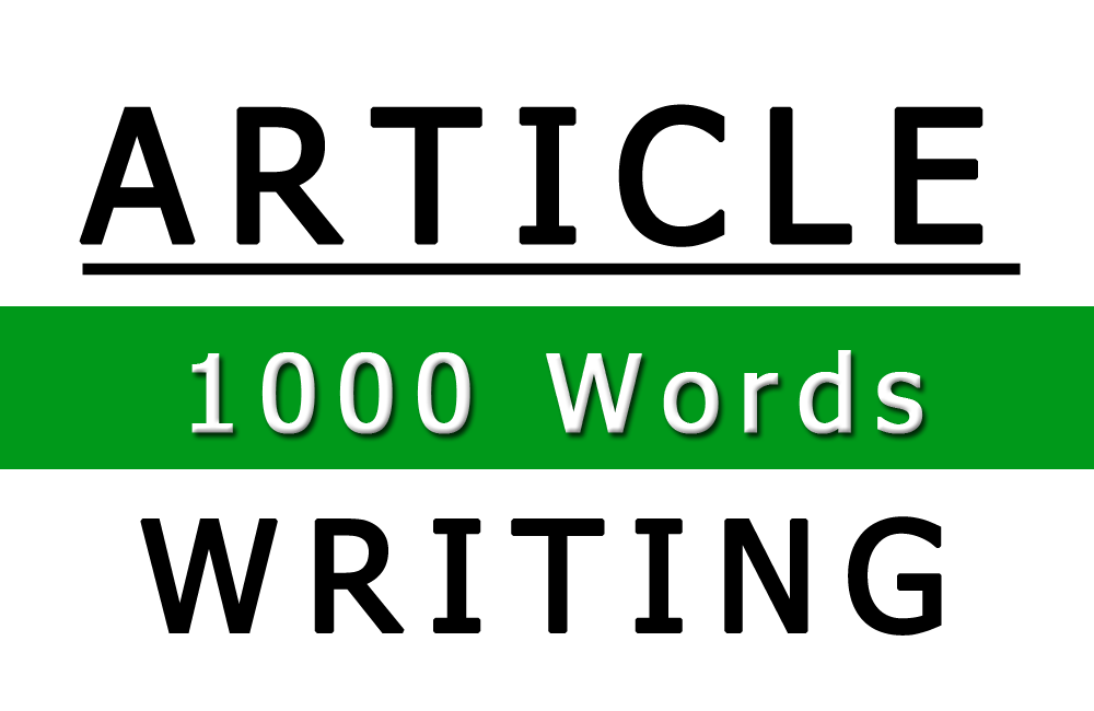 Image of 1,000 Word Article Writing