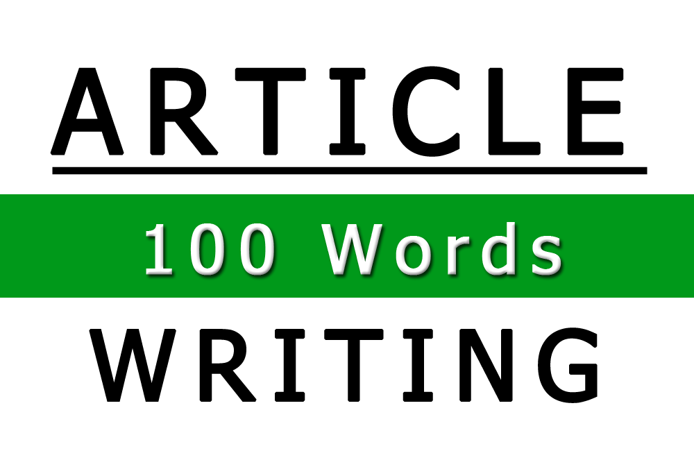Image of 100 Word Article Writing