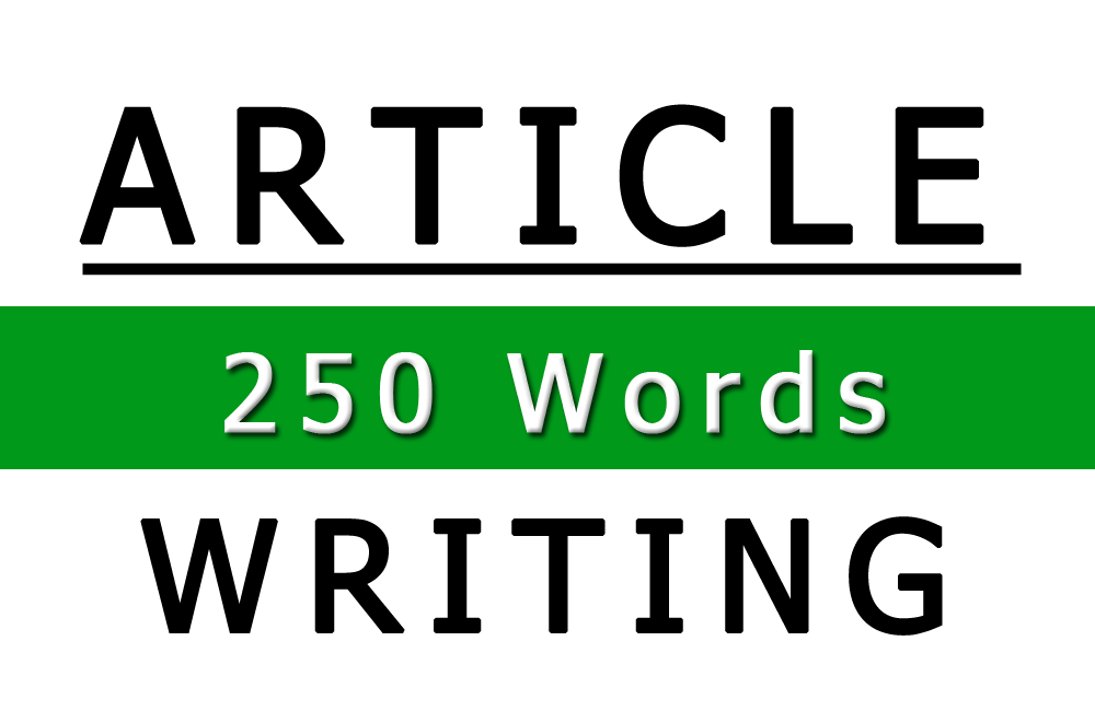 Image of 250 Word Article Writing