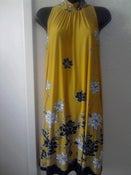Image of B & Lu Yellow Tie Neck Dress sz 2x