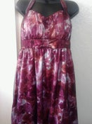 Image of Brand New Torrid Red Rose Bow Dress With Black Mesh Overlay