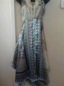 Image of Blue Handkerchief Dress Sz 1X