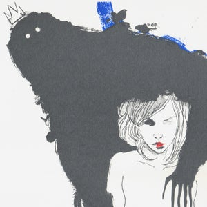 "Image of ""BELLA Y BESTIA"" Limited Edition Screenprint by Conrad Roset"