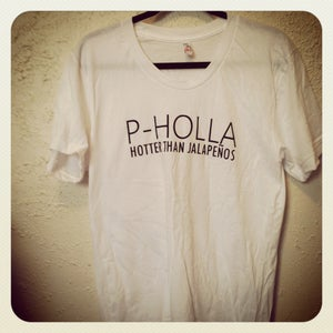 Image of White P-Holla Shirt (Ladies)