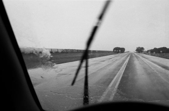Image of Looking at the world through the windshield