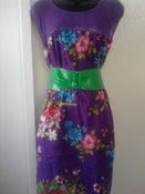Image of Torrid Purple Net Floral Dress