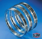 "Image of Chromed Steel 21"" WM0 (1.50"") 40 Hole Rims"
