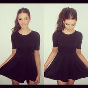 Image of Fitted mini skater dress
