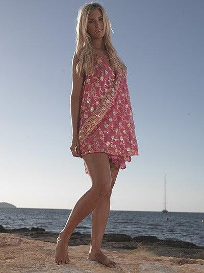 Image of Gorgeous Baby Pink Embellished Megan Dress