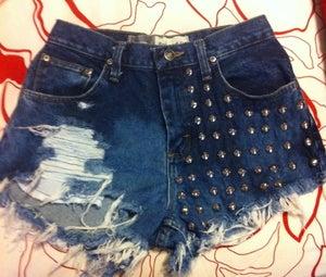 Image of Custom Vintage Studded Shorts