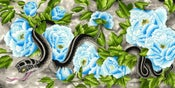 Image of Snake and Peonies