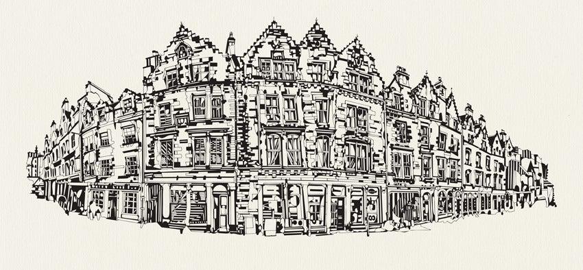 Image of Grassmarket, Edinburgh screen print