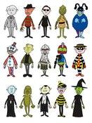 Image of Mini-Villains Sticker Pack (Series 1)