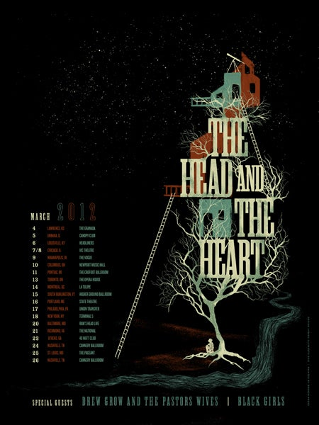 Image of The Head And The Heart Poster
