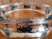 Image of Octagon resin bracelet featuring 'Fergus the Frog beetle '- blue