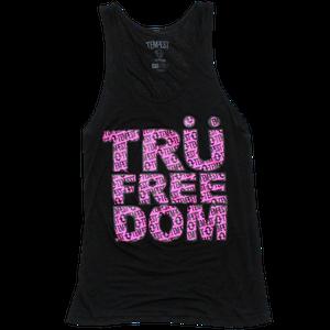Image of Tru Freedom Unisex Tank (Black/Neon Pink)