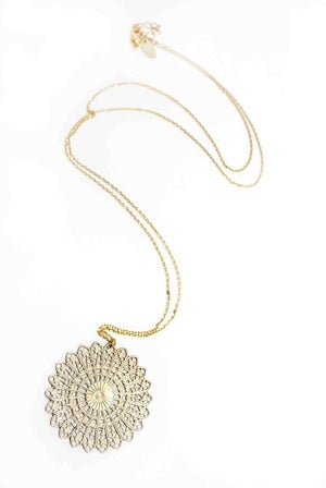 Image of Filigree gold necklace
