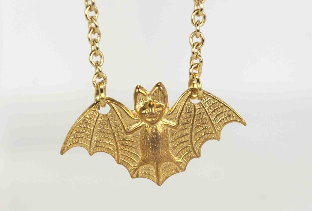 Image of small bat necklace