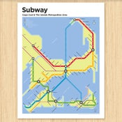 Image of Cape Cod Subway Map