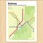 Image of Manchester, Vermont Subway Map