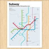 Image of Northampton/Amherst Subway Map