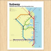 Image of Rehoboth/Ocean City Subway Map