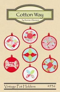 Image of Vintage Pot Holders - Paper Pattern #936