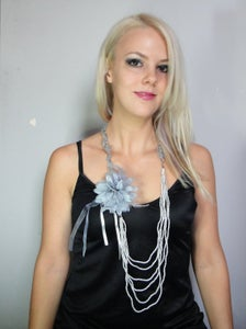 Image of Flapper necklace 1920s flapper style necklace and brooch combo