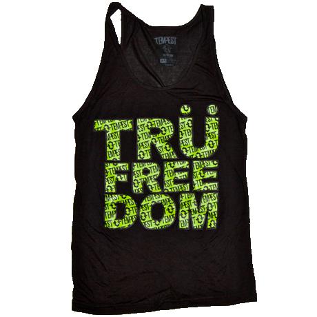 Image of Tru Freedom Unisex Tank (Black/Neon Green)