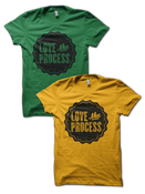 Image of LOVE the PROCESS shirt - Kelly or Gold