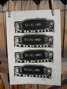 Image of Harmonica print of Blues Harps