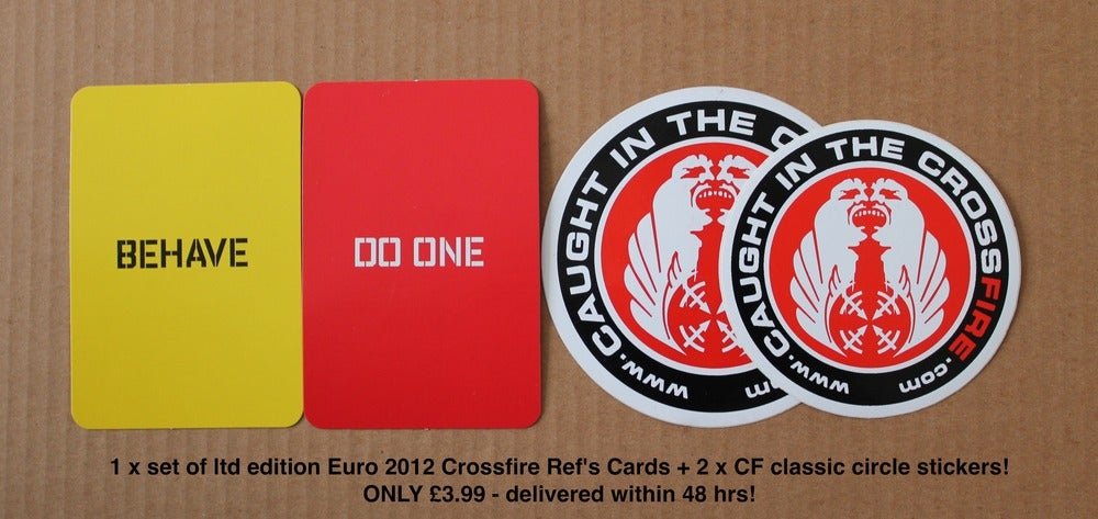 Image of CROSSFIRE REF'S CARDS!