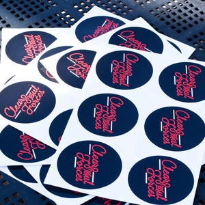 Image of Clear Soul Forces Logo Stickers