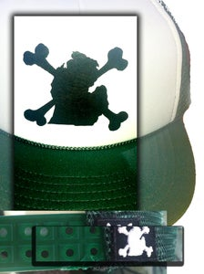 Image of DMD Skull and Bones lower Peninsula Trucker Hat!