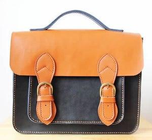 Image of Handmade Genuine Leather Satchel / Messenger Bag / Backpack - Couple Satchel (s6)