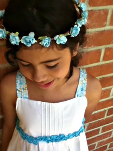 Image of Baby Blue Flower Crown
