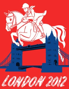 Image of London 2012 Olympics Poster: Equestrian