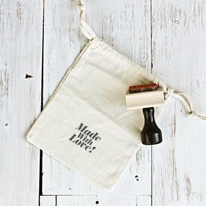 Image of 'Made With Love' Wooden Stamp