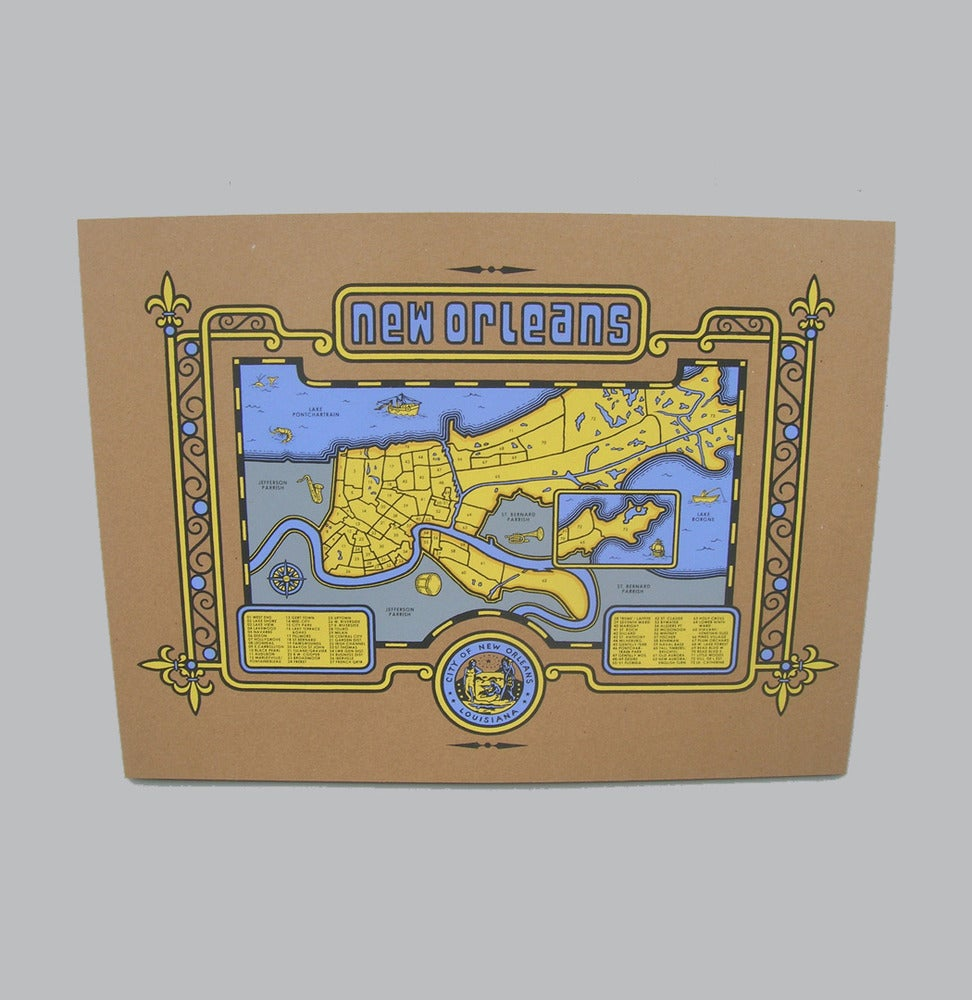 Image of new orleans map