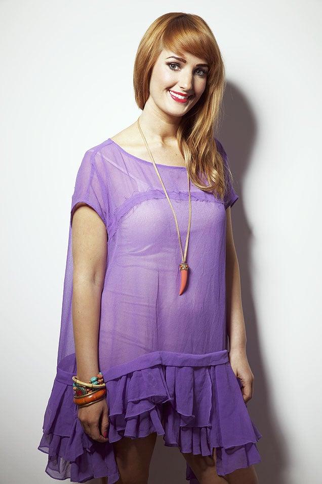 Image of Lilac Charlotte Ruffle Dress