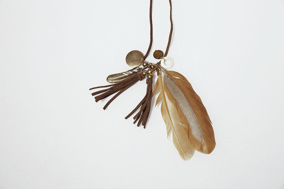 Image of Brown Feather necklace Free with any orders over £70