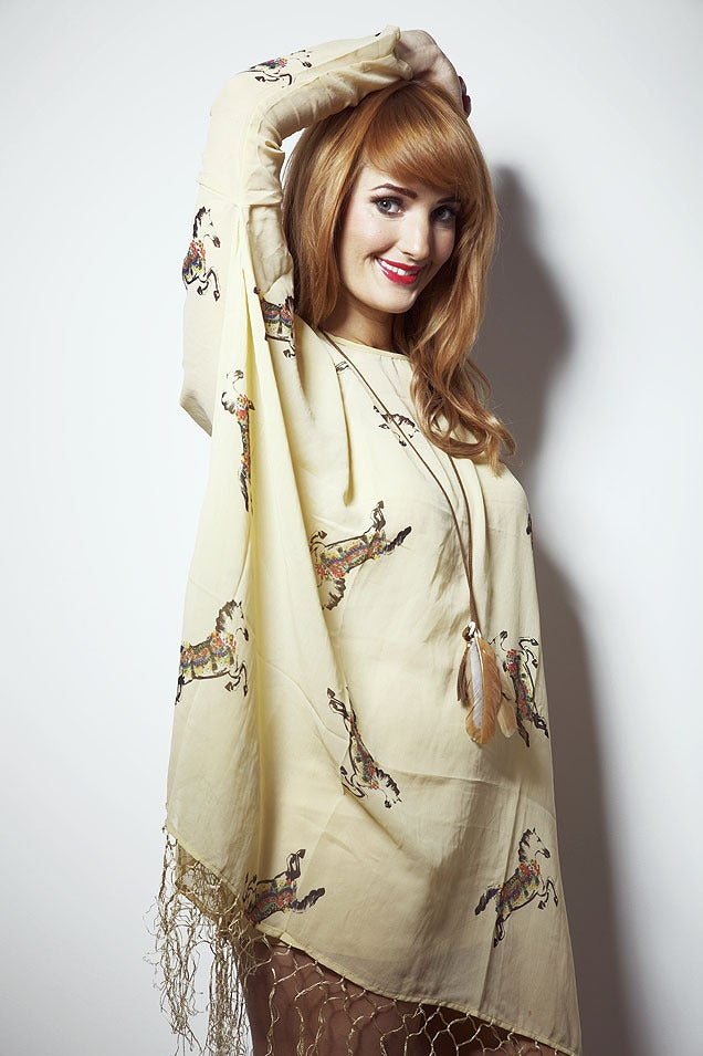 Image of Horse Print Grace Long Sleeved Tassel Dress
