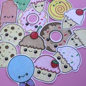 Image of Kawaii Cake, Candy and Ice Cream Stickers