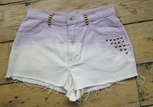 Image of Purple Ombre Highwaisted Studded Shorts